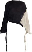 Marni Bi-colour silk and cotton-blend top