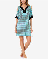 Ellen Tracy Printed Cold-Shoulder Short Caftan