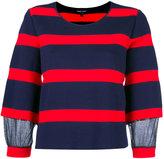 Emporio Armani striped jumper - women - Polyamide - 38