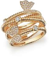 Bloomingdale's Diamond Beaded Ring with Butterflies in 14K Yellow Gold, .50 ct. t.w. - 100% Exclusive