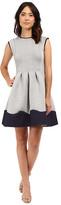 Christin Michaels Giselle Cap Sleeve Flare Dress