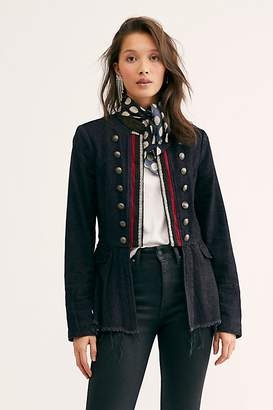 Free People Lucy Military Jacket by Free People, Black, XS