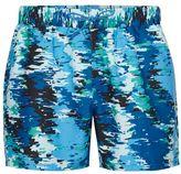 Topman Blue Digital Camo Swim Shorts