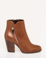Le Château Faux Leather Almond Toe Ankle Boot