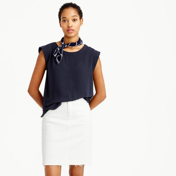 J.Crew Tall sleeveless drapey top