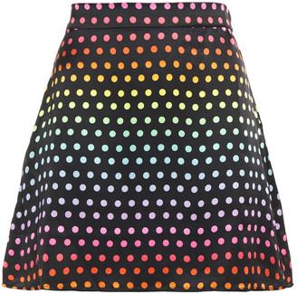 Olivia Rubin Libby Polka-dot Silk-satin Mini Skirt