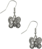 Yours Clothing Silver Butterfly Drop Earrings