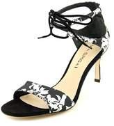 Via Spiga Skylar Open Toe Canvas Sandals.