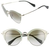 Miu Miu Women's 52Mm Cat Eye Sunglasses - Amaranth/ Pale Gold