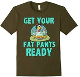 Kids Get Your Fat Pants Ready Thanksgiving Turkey Dinner T-Shirt 4