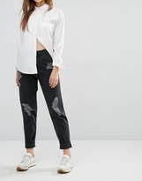 WÅVEN Elsa Distressed Mom Jeans