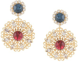 Kenneth Jay Lane Embellished Filigree Clip Earrings