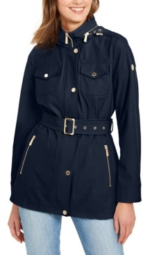 Michael Kors Michael Hooded Belted Coat