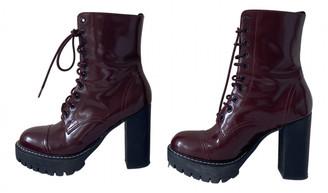ALEXACHUNG Alexa Chung Burgundy Leather Ankle boots