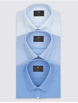 M&S Collection 3 Pack Easy to Iron Slim Fit Shirts
