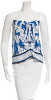 Clover Canyon Printed Keyhole-Accented Top