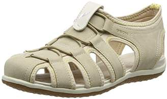 Geox D Sandal Vega D, Women's Closed Toe Sandals, Beige (Beige)