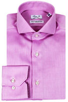 Linea In Slim Fit Tonal Weave Dress Shirt