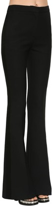 Alexander McQueen Flared Light Wool Silk Tuxedo Pants