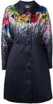 Moschino illustrated floral coat