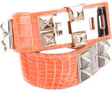 Hermes Alligator Collier De Chien Belt w/ Tags