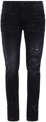 Lobbes Distressed Slim Stretch Denim Jeans