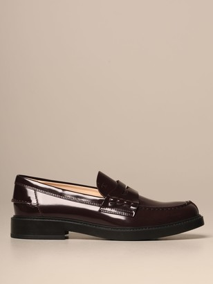 Tod's Moccasin In Brushed Leather With Rubber Sole