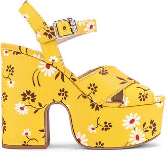 Miu Miu Daisy Platform Sandals in Topazio | FWRD