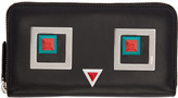 Fendi Black Square Eyes Wallet