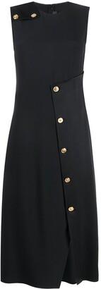 Versace Asymmetric Wrap-Style Dress