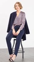 Esprit OUTLET flowing printed satin blouse