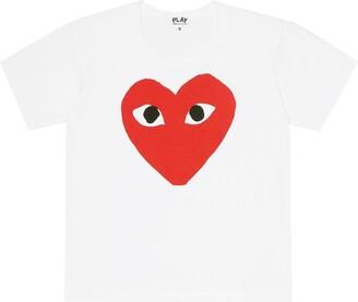 Comme Des Garçons Play Kids Heart logo cotton T-shirt