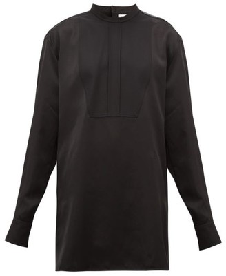 Jil Sander Thursday P.m. Bib-front Satin Shirt - Black