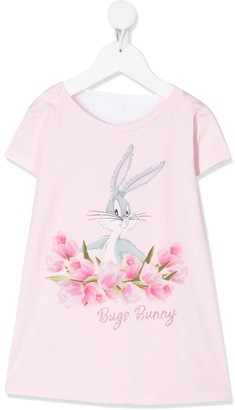 MonnaLisa Bugs Bunny crystal-embellished dress