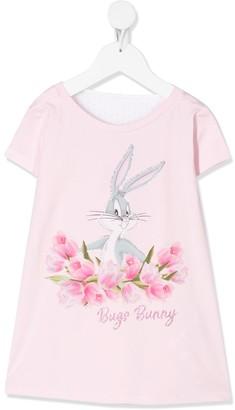 MonnaLisa Bugs Bunny crystal-embellished dress