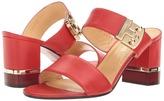 a. testoni Nappa Leather Buckle Strap Heel Women's Shoes
