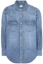 Saint Laurent Embellished Denim Shirt