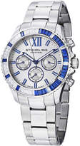 Stuhrling Original Sthrling Original Womens Crystal-Accent Silver-Tone Dial Bracelet Watch