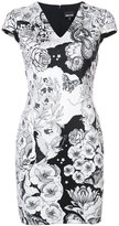 Just Cavalli embroidered fitted dress