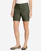 """Eddie Bauer Women's Slightly Curvy Adventurer® Stretch Ripstop Shorts - 8"""""""