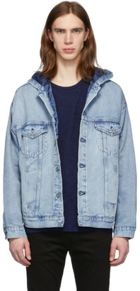 Levi's Levis Made and Crafted Blue Denim Hooded Trucker Jacket