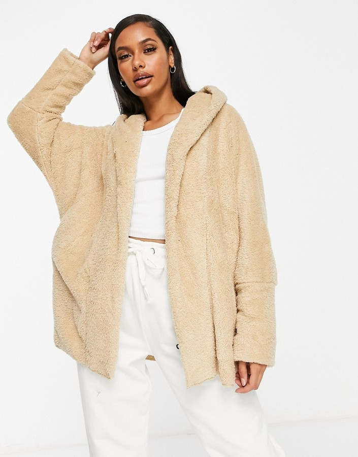 Thumbnail for your product : Qed London chuck on soft touch jacket in camel