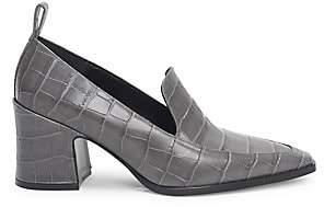 Dries Van Noten Women's Croc Embossed Point Toe Loafers