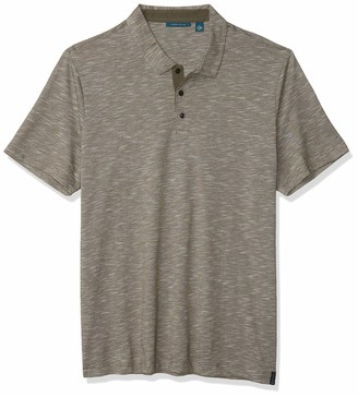 Perry Ellis Men's Textured Short Sleeve Polo Shirt