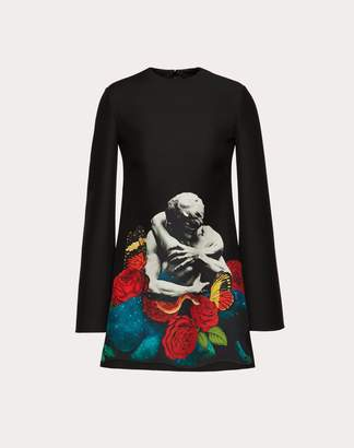 Valentino Crepe Couture Dress With Applied Undercover Print Women Multicoloured Virgin Wool 65%, Silk 35% 36