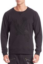 Pierre Balmain Eagle Applique Raglan Sleeve Sweatshirt