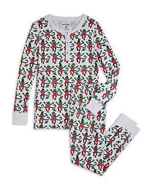 Roller Rabbit Unisex Monkey Pajama Set - Little Kid, Big Kid
