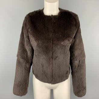 Theory Brown Fur Coats