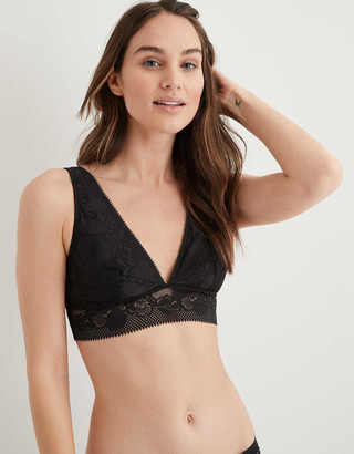 aerie Paradise Lace Padded Plunge Bralette