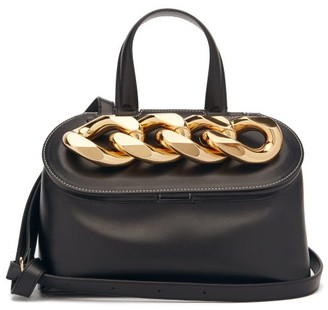 J.W.Anderson Lid Curb-chain Leather Shoulder Bag - Black
